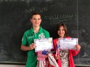 Thibault Gache et Alexiane Thivolle en 4ème